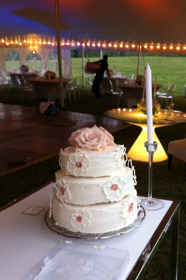 3 Tier Nutella, Vanilla, & Raspberry Wedding