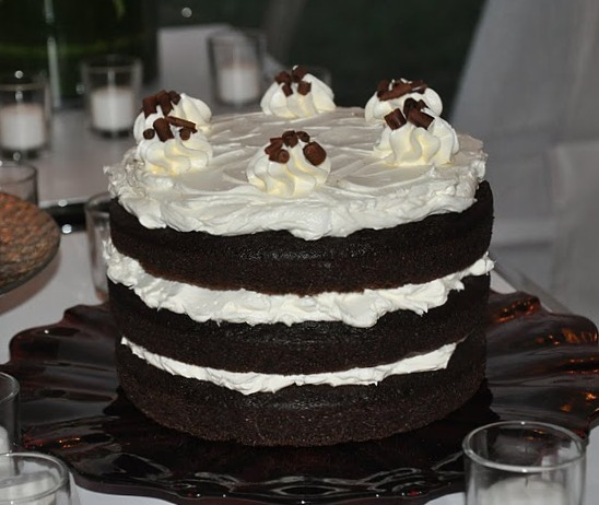 Wedding Devil's Food Cake